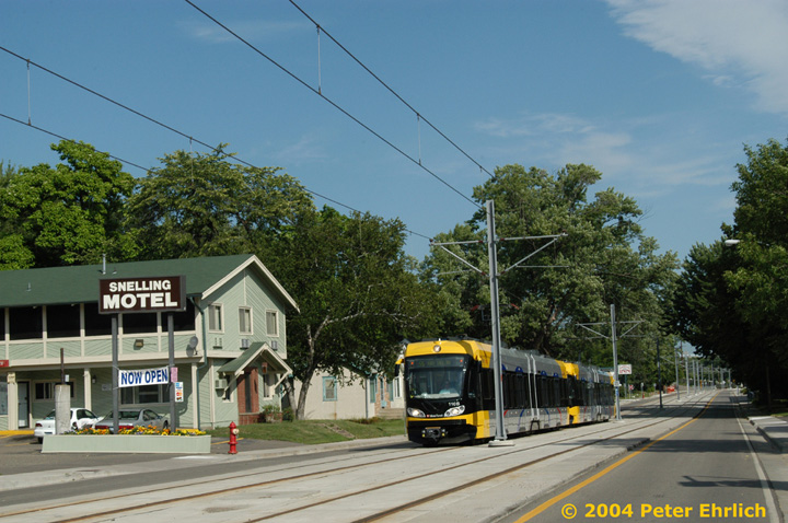 (160k, 720x478)<br><b>Country:</b> United States<br><b>City:</b> Minneapolis, MN<br><b>System:</b> MNDOT Light Rail Transit<br><b>Line:</b> Hiawatha Line<br><b>Location:</b> Minnehaha Avenue/54th Street <br><b>Car:</b> Bombardier Flexity Swift  110 <br><b>Photo by:</b> Peter Ehrlich<br><b>Date:</b> 8/1/2004<br><b>Viewed (this week/total):</b> 0 / 1662
