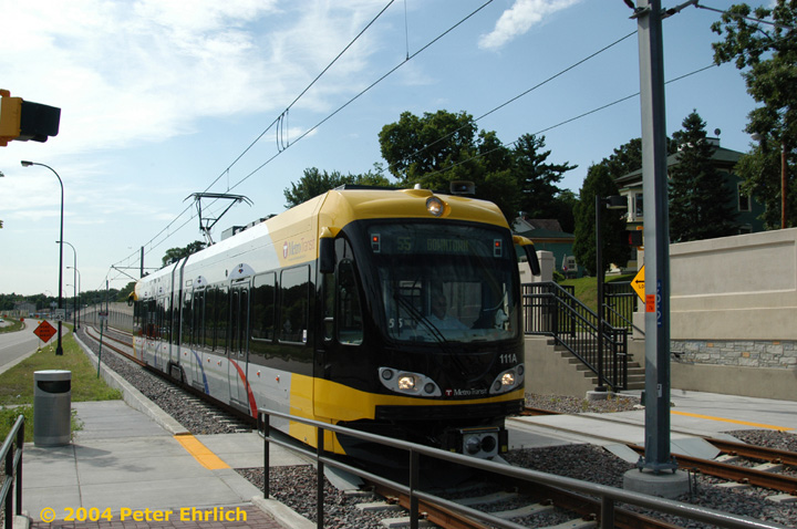 (154k, 720x478)<br><b>Country:</b> United States<br><b>City:</b> Minneapolis, MN<br><b>System:</b> MNDOT Light Rail Transit<br><b>Line:</b> Hiawatha Line<br><b>Location:</b> <b><u>50th Street/Minnehaha Park </b></u><br><b>Car:</b> Bombardier Flexity Swift  111 <br><b>Photo by:</b> Peter Ehrlich<br><b>Date:</b> 8/2/2004<br><b>Viewed (this week/total):</b> 0 / 1482