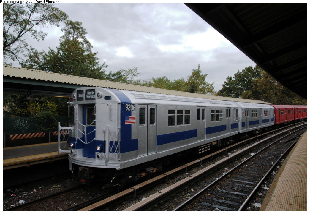 (182k, 1044x724)<br><b>Country:</b> United States<br><b>City:</b> New York<br><b>System:</b> New York City Transit<br><b>Line:</b> BMT Brighton Line<br><b>Location:</b> Sheepshead Bay <br><b>Route:</b> Fan Trip<br><b>Car:</b> R-33 Main Line (St. Louis, 1962-63) 9206 <br><b>Photo by:</b> David Pirmann<br><b>Date:</b> 10/23/2004<br><b>Viewed (this week/total):</b> 11 / 5570