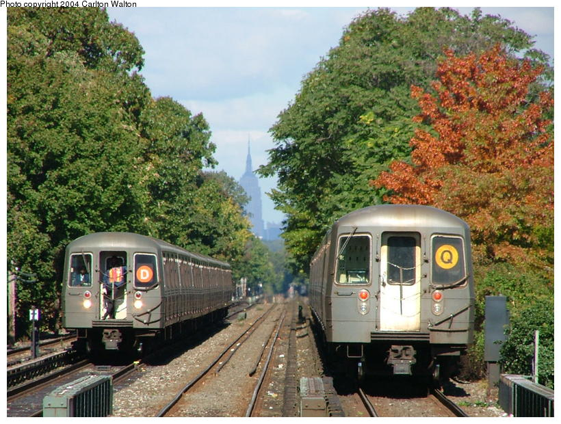 (135k, 820x620)<br><b>Country:</b> United States<br><b>City:</b> New York<br><b>System:</b> New York City Transit<br><b>Line:</b> BMT Brighton Line<br><b>Location:</b> Kings Highway <br><b>Route:</b> Q<br><b>Car:</b> R-68/R-68A Series (Number Unknown)  <br><b>Photo by:</b> Carlton Walton<br><b>Date:</b> 10/23/2004<br><b>Viewed (this week/total):</b> 8 / 5990