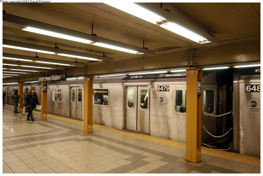(168k, 1044x701)<br><b>Country:</b> United States<br><b>City:</b> New York<br><b>System:</b> New York City Transit<br><b>Line:</b> IRT West Side Line<br><b>Location:</b> 34th Street/Penn Station <br><b>Route:</b> 2<br><b>Car:</b> R-142 (Primary Order, Bombardier, 1999-2002)  6479 <br><b>Photo by:</b> David Pirmann<br><b>Date:</b> 10/29/2004<br><b>Viewed (this week/total):</b> 2 / 4637