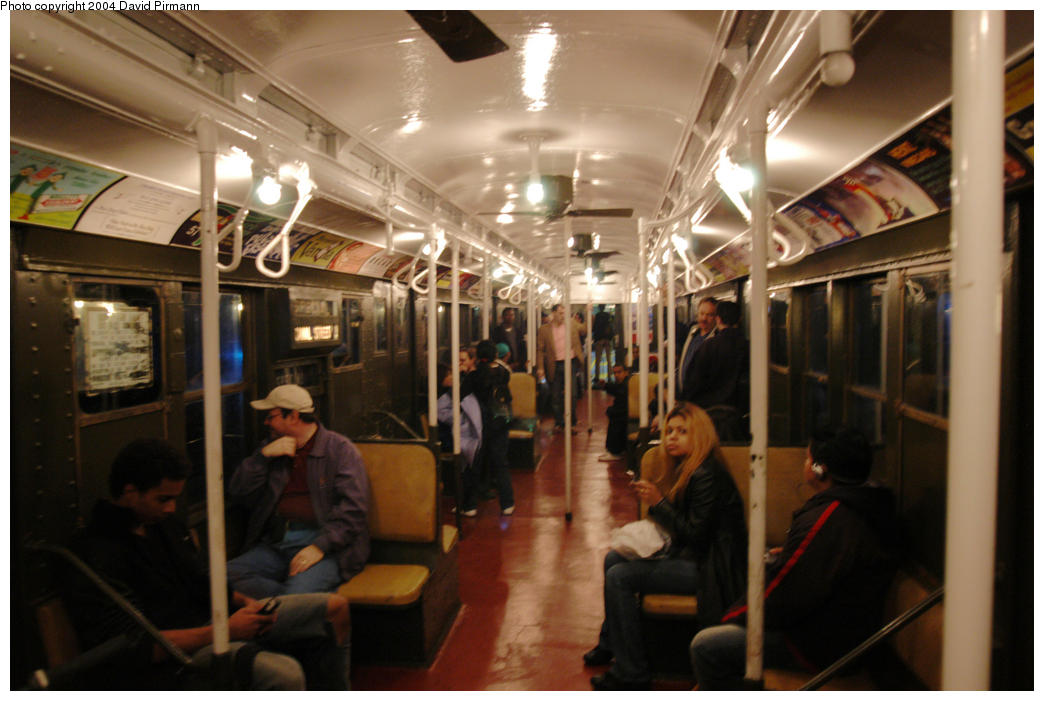 (168k, 1044x701)<br><b>Country:</b> United States<br><b>City:</b> New York<br><b>System:</b> New York City Transit<br><b>Route:</b> Fan Trip<br><b>Car:</b> R-1 (American Car & Foundry, 1930-1931) 381 <br><b>Photo by:</b> David Pirmann<br><b>Date:</b> 10/29/2004<br><b>Notes:</b> Train in regular passenger service, technically not a fan trip.<br><b>Viewed (this week/total):</b> 0 / 5643