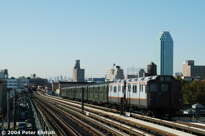 (126k, 720x478)<br><b>Country:</b> United States<br><b>City:</b> New York<br><b>System:</b> New York City Transit<br><b>Line:</b> BMT Astoria Line<br><b>Location:</b> 36th/Washington Aves. <br><b>Route:</b> Fan Trip<br><b>Car:</b> R-7A (Pullman, 1938)  1575 <br><b>Photo by:</b> Peter Ehrlich<br><b>Date:</b> 10/28/2004<br><b>Notes:</b> In service Ditmars Blvd.-Canal St.<br><b>Viewed (this week/total):</b> 0 / 1887