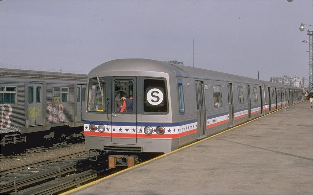 (150k, 1024x638)<br><b>Country:</b> United States<br><b>City:</b> New York<br><b>System:</b> New York City Transit<br><b>Line:</b> IND Rockaway<br><b>Location:</b> Rockaway Park/Beach 116th Street <br><b>Route:</b> Fan Trip<br><b>Car:</b> R-46 (Pullman-Standard, 1974-75) 680 <br><b>Photo by:</b> Ed McKernan<br><b>Collection of:</b> Joe Testagrose<br><b>Date:</b> 2/26/1977<br><b>Viewed (this week/total):</b> 0 / 2708