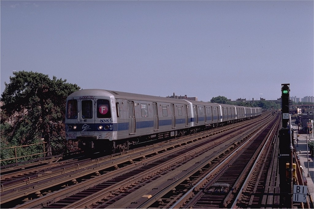 (221k, 1024x683)<br><b>Country:</b> United States<br><b>City:</b> New York<br><b>System:</b> New York City Transit<br><b>Line:</b> BMT Culver Line<br><b>Location:</b> Avenue P <br><b>Route:</b> F<br><b>Car:</b> R-46 (Pullman-Standard, 1974-75) 892 <br><b>Photo by:</b> Joe Testagrose<br><b>Date:</b> 7/4/1980<br><b>Viewed (this week/total):</b> 5 / 3233