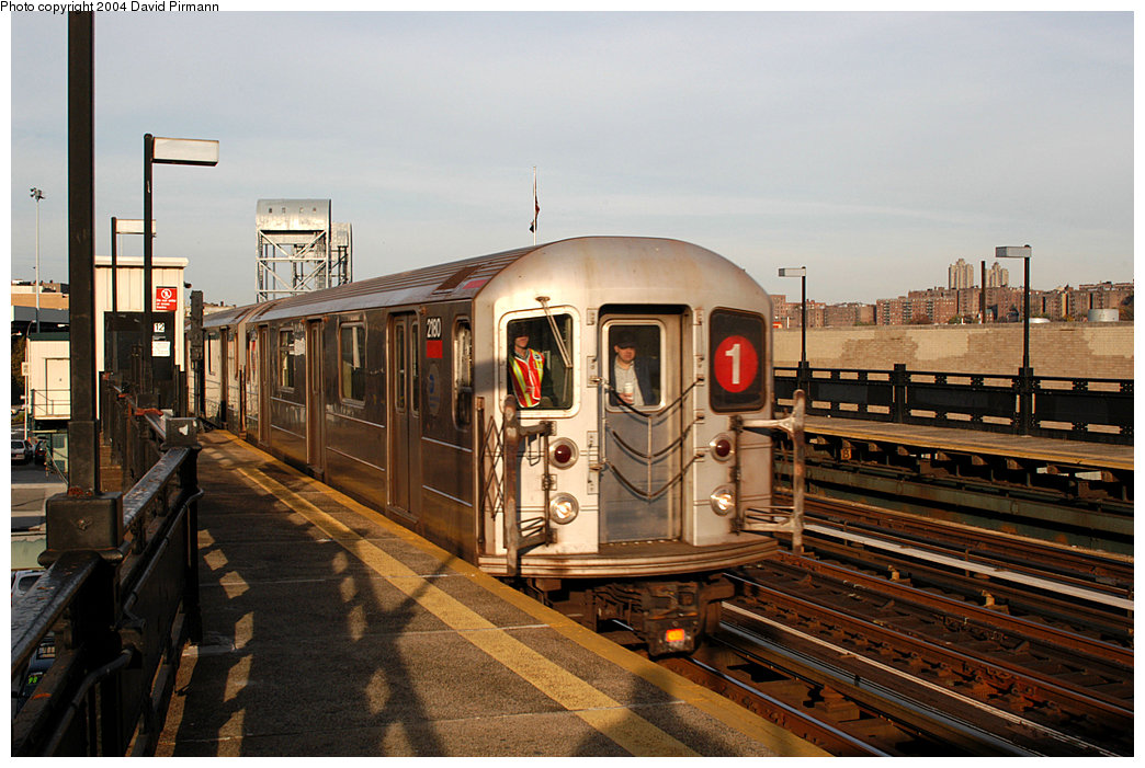(257k, 1044x701)<br><b>Country:</b> United States<br><b>City:</b> New York<br><b>System:</b> New York City Transit<br><b>Line:</b> IRT West Side Line<br><b>Location:</b> 215th Street <br><b>Route:</b> 1<br><b>Car:</b> R-62A (Bombardier, 1984-1987)  2180 <br><b>Photo by:</b> David Pirmann<br><b>Date:</b> 11/6/2004<br><b>Viewed (this week/total):</b> 2 / 2304