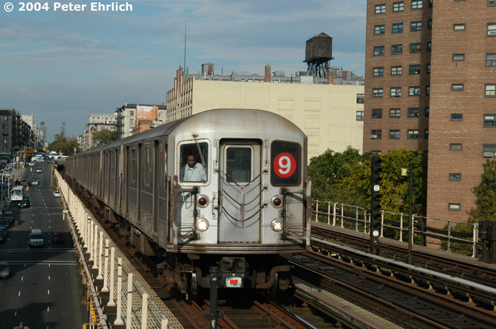 (165k, 720x478)<br><b>Country:</b> United States<br><b>City:</b> New York<br><b>System:</b> New York City Transit<br><b>Line:</b> IRT West Side Line<br><b>Location:</b> 125th Street <br><b>Route:</b> 9<br><b>Car:</b> R-62A (Bombardier, 1984-1987)  2396 <br><b>Photo by:</b> Peter Ehrlich<br><b>Date:</b> 10/27/2004<br><b>Viewed (this week/total):</b> 4 / 4322