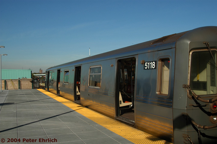(106k, 720x478)<br><b>Country:</b> United States<br><b>City:</b> New York<br><b>System:</b> New York City Transit<br><b>Location:</b> Coney Island/Stillwell Avenue<br><b>Route:</b> Q<br><b>Car:</b> R-68A (Kawasaki, 1988-1989)  5118 <br><b>Photo by:</b> Peter Ehrlich<br><b>Date:</b> 10/28/2004<br><b>Viewed (this week/total):</b> 5 / 3094