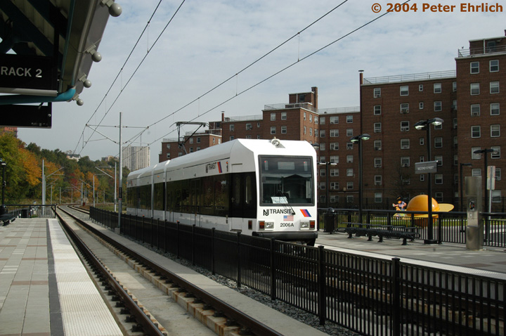 (145k, 720x478)<br><b>Country:</b> United States<br><b>City:</b> Hoboken, NJ<br><b>System:</b> Hudson Bergen Light Rail<br><b>Location:</b> 2nd Street <br><b>Car:</b> NJT-HBLR LRV (Kinki-Sharyo, 1998-99)  2006 <br><b>Photo by:</b> Peter Ehrlich<br><b>Date:</b> 10/27/2004<br><b>Viewed (this week/total):</b> 1 / 3077