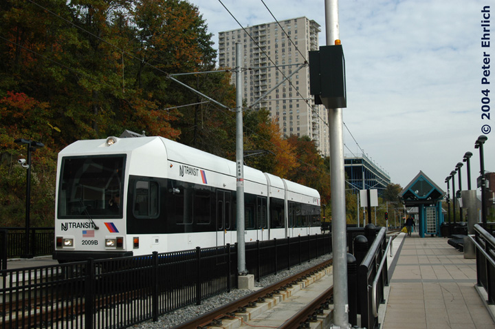 (159k, 720x478)<br><b>Country:</b> United States<br><b>City:</b> Hoboken, NJ<br><b>System:</b> Hudson Bergen Light Rail<br><b>Location:</b> 9th Street <br><b>Car:</b> NJT-HBLR LRV (Kinki-Sharyo, 1998-99)  2009 <br><b>Photo by:</b> Peter Ehrlich<br><b>Date:</b> 10/27/2004<br><b>Viewed (this week/total):</b> 0 / 2264