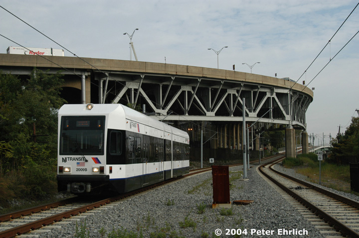 (141k, 720x478)<br><b>Country:</b> United States<br><b>City:</b> Weehawken, NJ<br><b>System:</b> Hudson Bergen Light Rail<br><b>Location:</b> Lincoln Harbor <br><b>Car:</b> NJT-HBLR LRV (Kinki-Sharyo, 1998-99)  2009 <br><b>Photo by:</b> Peter Ehrlich<br><b>Date:</b> 10/27/2004<br><b>Viewed (this week/total):</b> 1 / 2643
