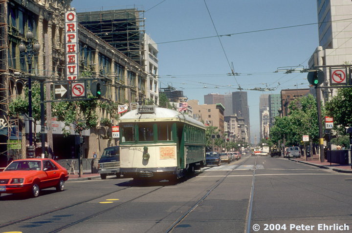 (178k, 720x478)<br><b>Country:</b> United States<br><b>City:</b> San Francisco/Bay Area, CA<br><b>System:</b> SF MUNI<br><b>Location:</b> Market/8th/Hyde/Grove/Civic Ctr. <br><b>Car:</b> SF MUNI K-Type (Bethlehem Steel, 1923)  178 <br><b>Photo by:</b> Peter Ehrlich<br><b>Date:</b> 8/11/1983<br><b>Viewed (this week/total):</b> 3 / 1932
