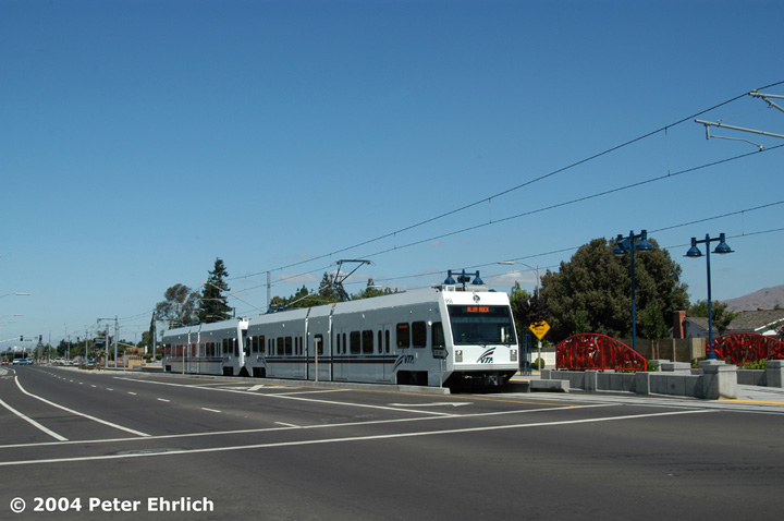 (96k, 720x478)<br><b>Country:</b> United States<br><b>City:</b> San Jose, CA<br><b>System:</b> Santa Clara VTA<br><b>Line:</b> VTA Tasman East/Capitol<br><b>Location:</b> Hostetter <br><b>Car:</b> VTA Kinki-Sharyo 956 <br><b>Photo by:</b> Peter Ehrlich<br><b>Date:</b> 8/25/2004<br><b>Viewed (this week/total):</b> 0 / 1281