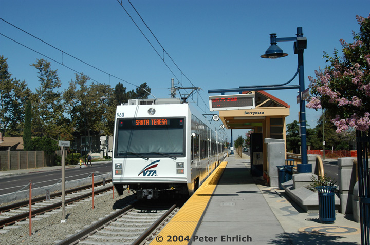 (168k, 720x478)<br><b>Country:</b> United States<br><b>City:</b> San Jose, CA<br><b>System:</b> Santa Clara VTA<br><b>Line:</b> VTA Tasman East/Capitol<br><b>Location:</b> Berryessa <br><b>Car:</b> VTA Kinki-Sharyo 960 <br><b>Photo by:</b> Peter Ehrlich<br><b>Date:</b> 8/25/2004<br><b>Viewed (this week/total):</b> 0 / 977