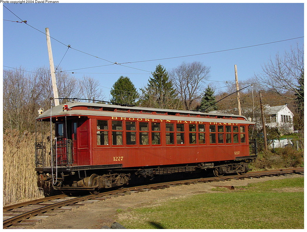 (275k, 1044x788)<br><b>Country:</b> United States<br><b>City:</b> East Haven/Branford, Ct.<br><b>System:</b> Shore Line Trolley Museum <br><b>Car:</b> BMT Elevated Gate Car 1227 <br><b>Photo by:</b> David Pirmann<br><b>Date:</b> 11/14/2004<br><b>Viewed (this week/total):</b> 1 / 2473