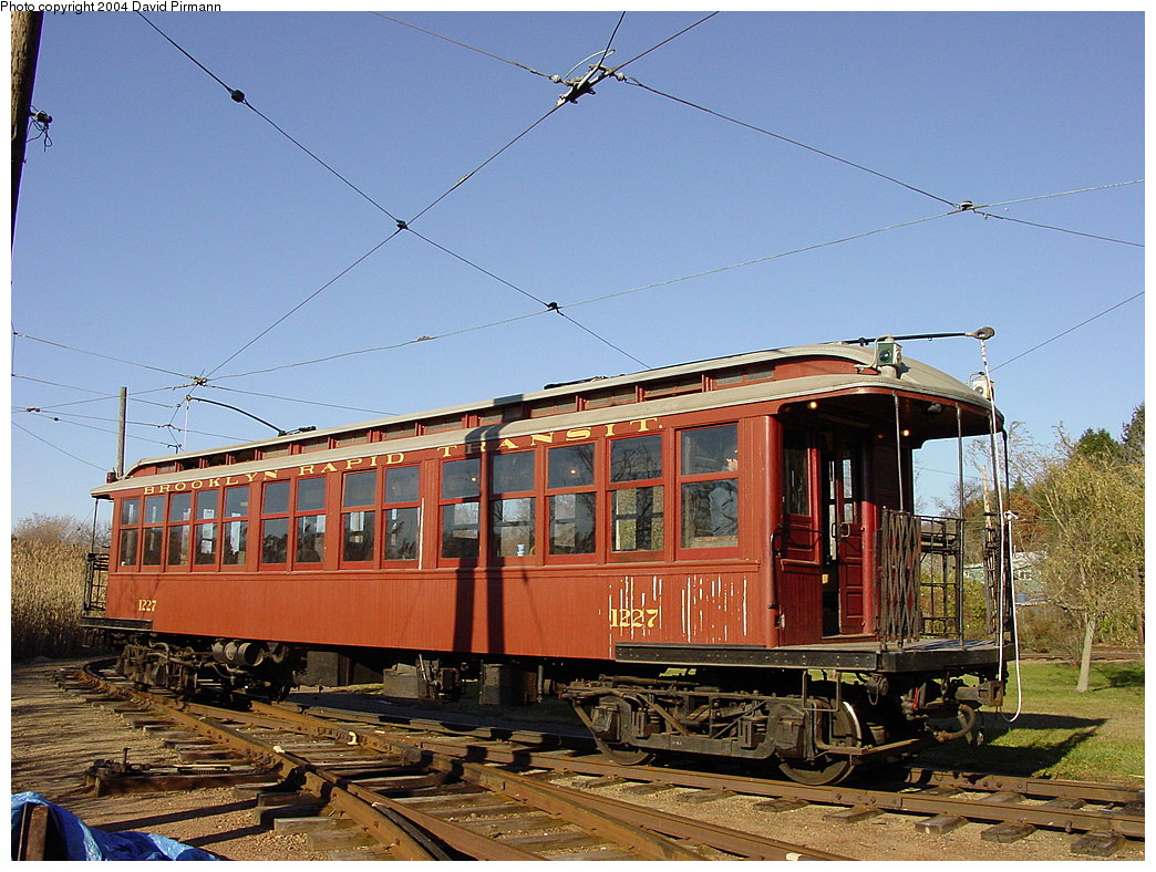 (224k, 1044x788)<br><b>Country:</b> United States<br><b>City:</b> East Haven/Branford, Ct.<br><b>System:</b> Shore Line Trolley Museum <br><b>Car:</b> BMT Elevated Gate Car 1227 <br><b>Photo by:</b> David Pirmann<br><b>Date:</b> 11/14/2004<br><b>Viewed (this week/total):</b> 0 / 2897