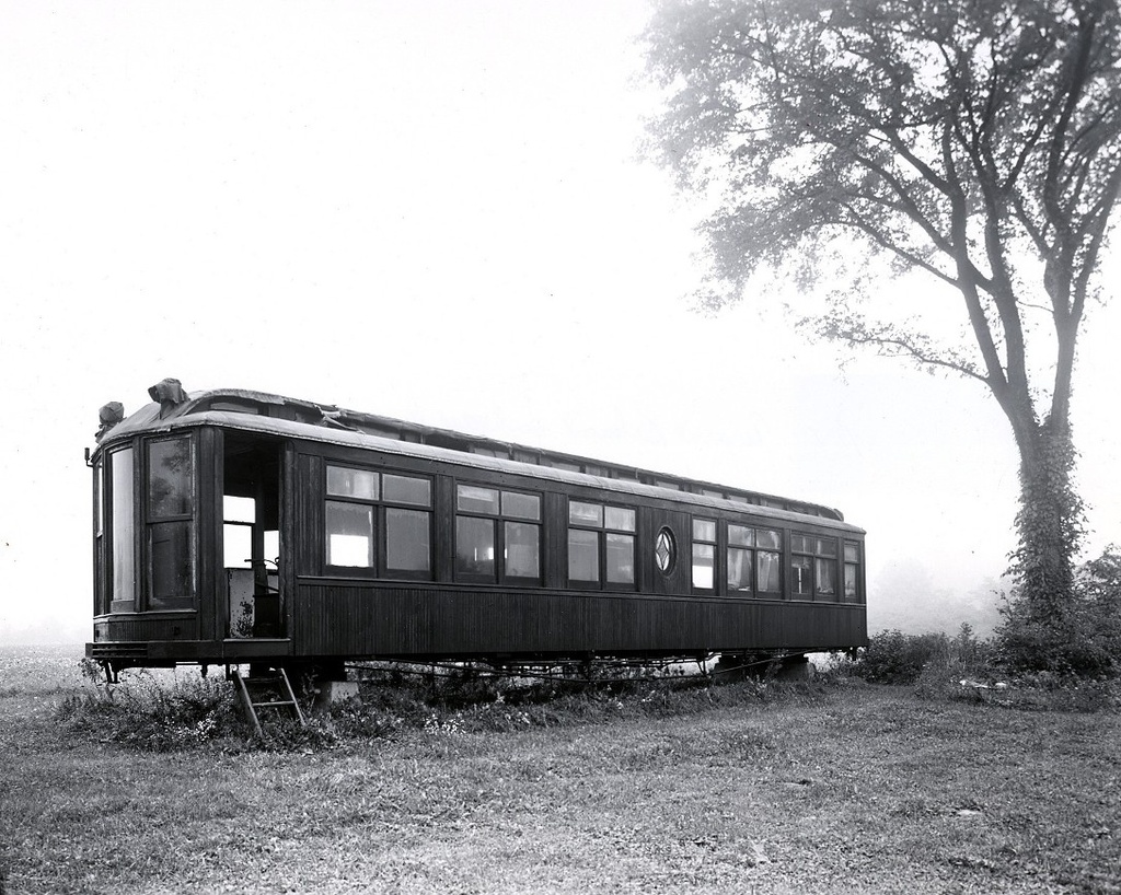 (325k, 1024x818)<br><b>Country:</b> United States<br><b>City:</b> East Haven/Branford, Ct.<br><b>System:</b> Shore Line Trolley Museum <br><b>Car:</b> Hi-V 3344 <i>Mineola</i> <br><b>Collection of:</b> George Cuhaj<br><b>Date:</b> 9/17/1954<br><b>Notes:</b> Joseph Garcia farm, Flemington NJ.<br><b>Viewed (this week/total):</b> 1 / 2320