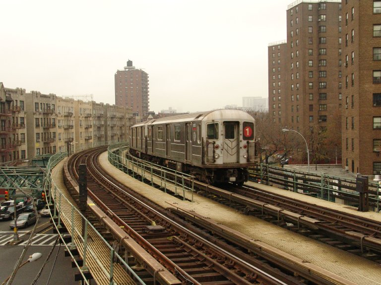 (107k, 768x576)<br><b>Country:</b> United States<br><b>City:</b> New York<br><b>System:</b> New York City Transit<br><b>Line:</b> IRT West Side Line<br><b>Location:</b> Dyckman Street <br><b>Route:</b> 1<br><b>Car:</b> R-62A (Bombardier, 1984-1987)  1875 <br><b>Photo by:</b> Richard Panse<br><b>Date:</b> 11/21/2004<br><b>Viewed (this week/total):</b> 3 / 3196