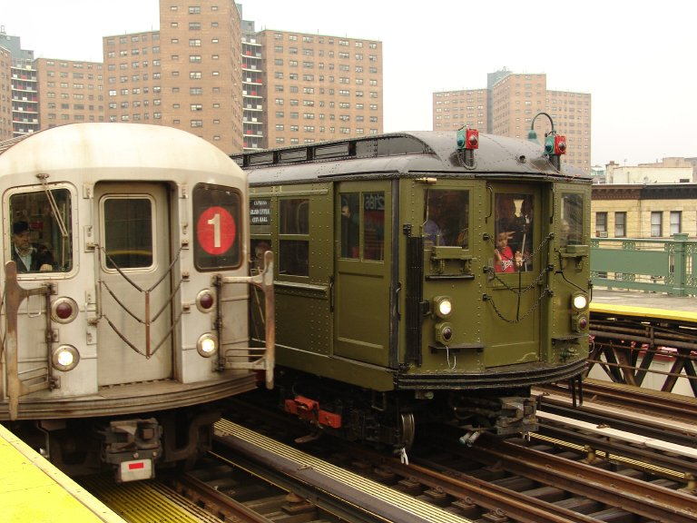 (102k, 768x576)<br><b>Country:</b> United States<br><b>City:</b> New York<br><b>System:</b> New York City Transit<br><b>Line:</b> IRT West Side Line<br><b>Location:</b> 125th Street <br><b>Route:</b> Fan Trip<br><b>Car:</b> Low-V (Museum Train) 5443 <br><b>Photo by:</b> Richard Panse<br><b>Date:</b> 11/21/2004<br><b>Notes:</b> With R62A 2186<br><b>Viewed (this week/total):</b> 6 / 2552