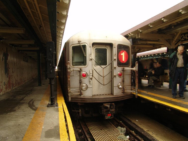 (80k, 757x568)<br><b>Country:</b> United States<br><b>City:</b> New York<br><b>System:</b> New York City Transit<br><b>Line:</b> IRT West Side Line<br><b>Location:</b> 242nd Street/Van Cortlandt Park <br><b>Route:</b> 1<br><b>Car:</b> R-62A (Bombardier, 1984-1987)  2260 <br><b>Photo by:</b> Richard Panse<br><b>Date:</b> 11/21/2004<br><b>Viewed (this week/total):</b> 4 / 4324