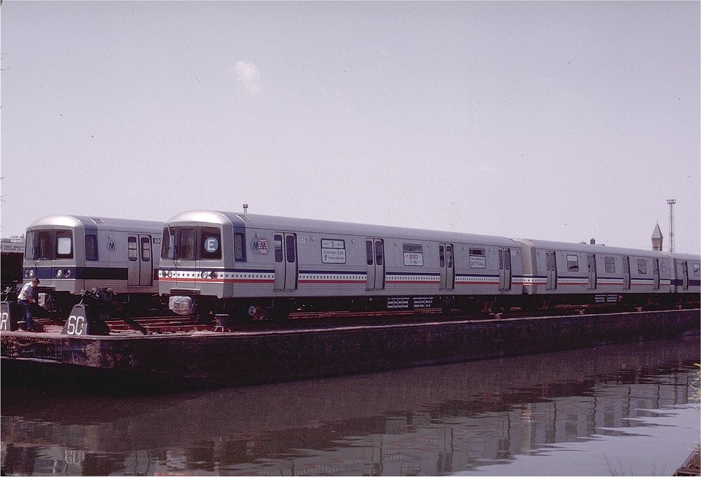 (195k, 1024x697)<br><b>Country:</b> United States<br><b>City:</b> Hoboken, NJ<br><b>System:</b> New York City Transit<br><b>Location:</b> Hoboken Yard <br><b>Car:</b> R-46 (Pullman-Standard, 1974-75) 680 <br><b>Photo by:</b> Gerald H. Landau<br><b>Collection of:</b> Joe Testagrose<br><b>Date:</b> 6/27/1976<br><b>Viewed (this week/total):</b> 0 / 2526