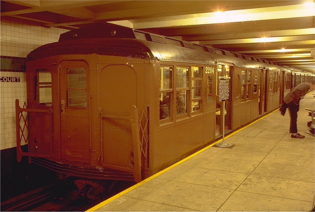 (210k, 1024x690)<br><b>Country:</b> United States<br><b>City:</b> New York<br><b>System:</b> New York City Transit<br><b>Location:</b> New York Transit Museum<br><b>Car:</b> BMT A/B-Type Standard 2204 <br><b>Photo by:</b> Joe Testagrose<br><b>Date:</b> 11/18/1979<br><b>Viewed (this week/total):</b> 0 / 2988