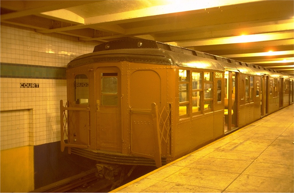 (163k, 1024x673)<br><b>Country:</b> United States<br><b>City:</b> New York<br><b>System:</b> New York City Transit<br><b>Location:</b> New York Transit Museum<br><b>Car:</b> BMT A/B-Type Standard 2204 <br><b>Photo by:</b> Joe Testagrose<br><b>Date:</b> 7/24/1977<br><b>Viewed (this week/total):</b> 2 / 2862