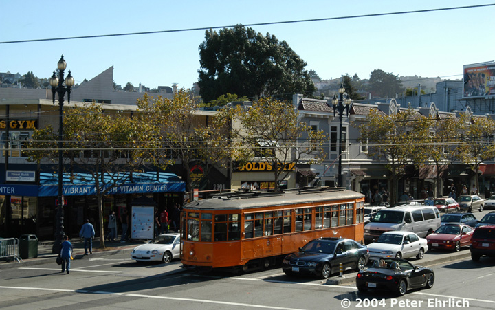 (175k, 720x451)<br><b>Country:</b> United States<br><b>City:</b> San Francisco/Bay Area, CA<br><b>System:</b> SF MUNI<br><b>Location:</b> Market/16th/Noe <br><b>Car:</b> Milan Milano/Peter Witt (1927-1930)  1859 <br><b>Photo by:</b> Peter Ehrlich<br><b>Date:</b> 10/9/2004<br><b>Viewed (this week/total):</b> 0 / 574