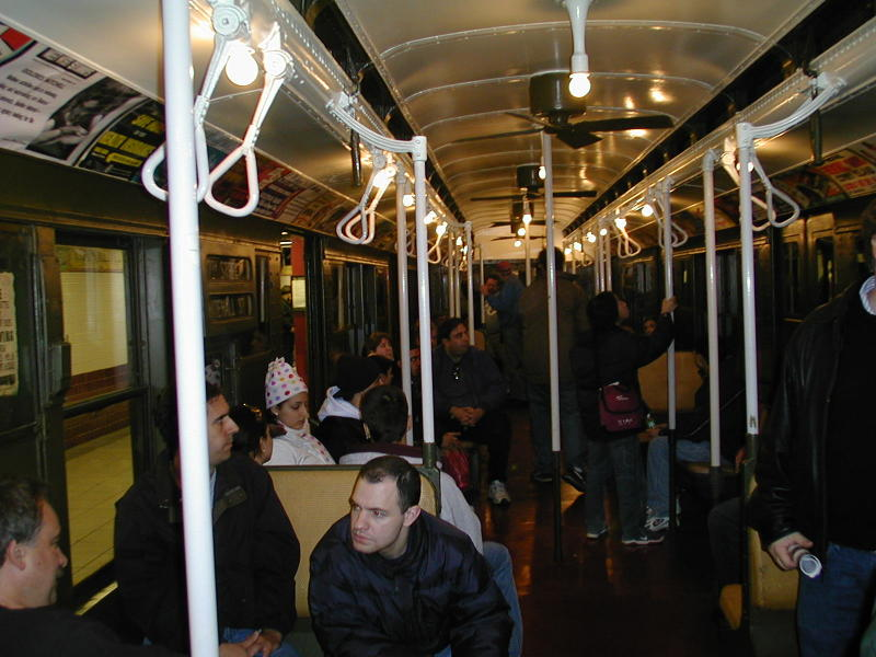 (88k, 800x600)<br><b>Country:</b> United States<br><b>City:</b> New York<br><b>System:</b> New York City Transit<br><b>Route:</b> Fan Trip<br><b>Car:</b> R-9 (Pressed Steel, 1940)  1802 <br><b>Photo by:</b> Todd Glickman<br><b>Date:</b> 11/27/2004<br><b>Notes:</b> In service 57th St-Whitehall<br><b>Viewed (this week/total):</b> 1 / 2316