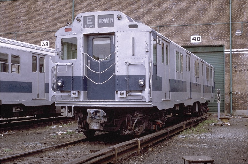 (286k, 1024x678)<br><b>Country:</b> United States<br><b>City:</b> New York<br><b>System:</b> New York City Transit<br><b>Location:</b> Coney Island Yard<br><b>Car:</b> R-10 (American Car & Foundry, 1948) 3128 <br><b>Photo by:</b> Joe Testagrose<br><b>Date:</b> 4/25/1971<br><b>Viewed (this week/total):</b> 0 / 2909