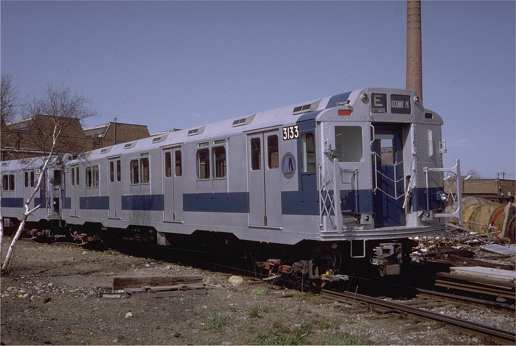 (234k, 1024x688)<br><b>Country:</b> United States<br><b>City:</b> New York<br><b>System:</b> New York City Transit<br><b>Location:</b> Coney Island Yard<br><b>Car:</b> R-10 (American Car & Foundry, 1948) 3133 <br><b>Photo by:</b> Steve Zabel<br><b>Collection of:</b> Joe Testagrose<br><b>Date:</b> 4/23/1971<br><b>Viewed (this week/total):</b> 6 / 3045