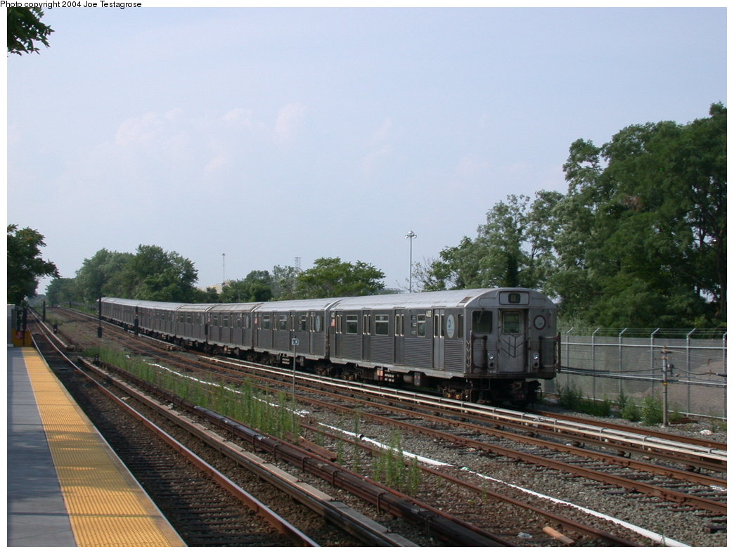 (202k, 1044x788)<br><b>Country:</b> United States<br><b>City:</b> New York<br><b>System:</b> New York City Transit<br><b>Line:</b> IND Rockaway<br><b>Location:</b> Howard Beach <br><b>Route:</b> A<br><b>Car:</b> R-38 (St. Louis, 1966-1967)  4110 <br><b>Photo by:</b> Joe Testagrose<br><b>Date:</b> 7/17/2004<br><b>Viewed (this week/total):</b> 0 / 3232