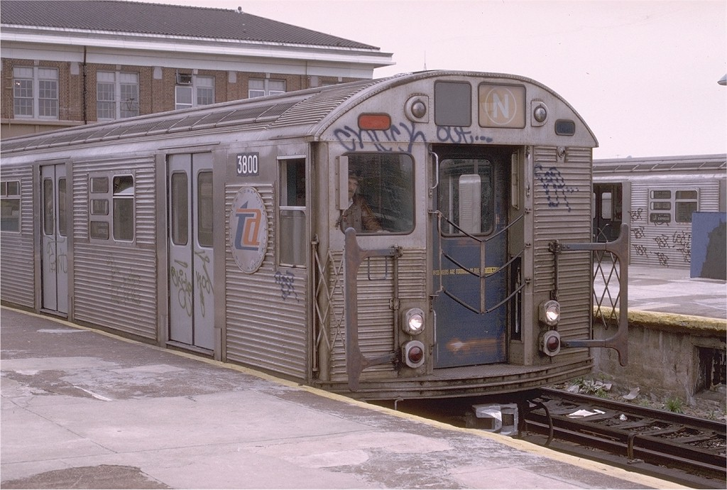 (205k, 1024x690)<br><b>Country:</b> United States<br><b>City:</b> New York<br><b>System:</b> New York City Transit<br><b>Location:</b> Coney Island/Stillwell Avenue<br><b>Route:</b> N<br><b>Car:</b> R-32 (Budd, 1964)  3800 <br><b>Photo by:</b> Joe Testagrose<br><b>Date:</b> 5/5/1974<br><b>Viewed (this week/total):</b> 1 / 2911