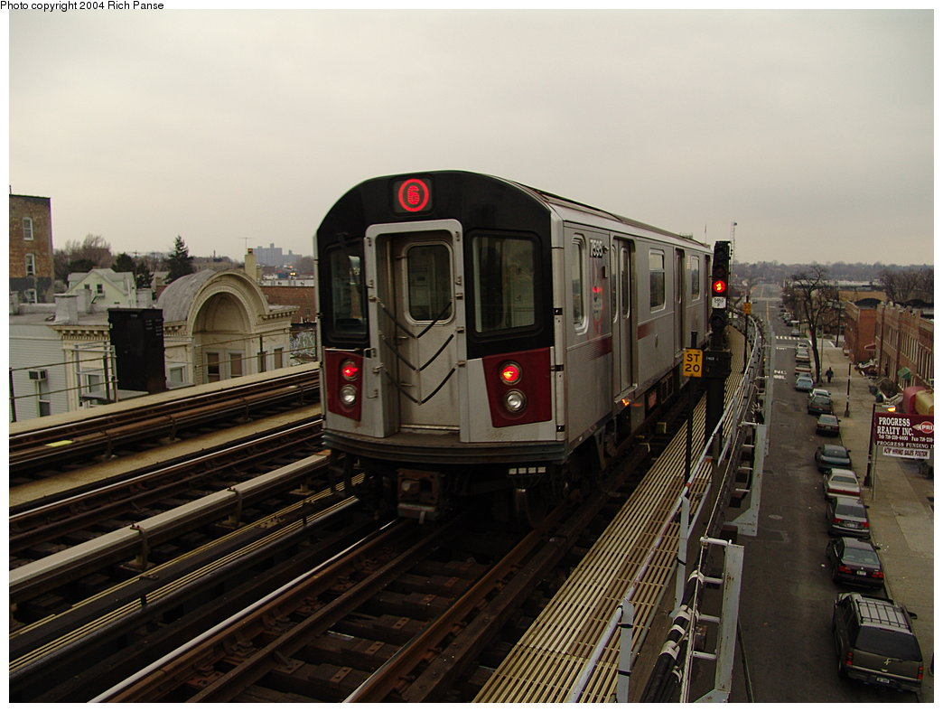 (177k, 1044x788)<br><b>Country:</b> United States<br><b>City:</b> New York<br><b>System:</b> New York City Transit<br><b>Line:</b> IRT Pelham Line<br><b>Location:</b> Castle Hill Avenue <br><b>Route:</b> 6<br><b>Car:</b> R-142A (Primary Order, Kawasaki, 1999-2002)  7535 <br><b>Photo by:</b> Richard Panse<br><b>Date:</b> 12/19/2004<br><b>Viewed (this week/total):</b> 0 / 3888