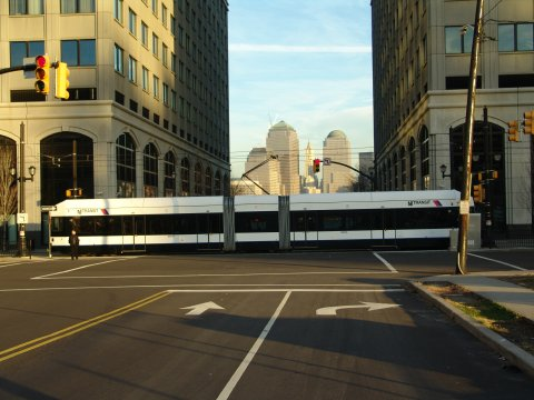 (40k, 480x360)<br><b>Country:</b> United States<br><b>City:</b> Jersey City, NJ<br><b>System:</b> Hudson Bergen Light Rail<br><b>Location:</b> Exchange Place <br><b>Photo by:</b> Richard Panse<br><b>Date:</b> 11/30/2004<br><b>Viewed (this week/total):</b> 3 / 3097