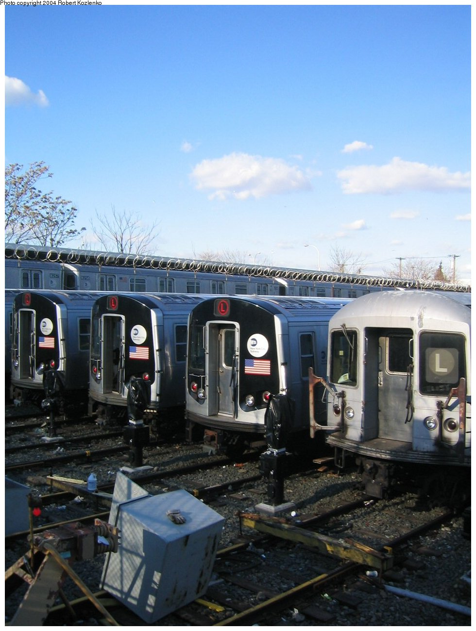 (215k, 980x1300)<br><b>Country:</b> United States<br><b>City:</b> New York<br><b>System:</b> New York City Transit<br><b>Location:</b> Rockaway Parkway (Canarsie) Yard<br><b>Car:</b> R-143 (Kawasaki, 2001-2002)  <br><b>Photo by:</b> Robert Kozlenko<br><b>Date:</b> 11/26/2004<br><b>Viewed (this week/total):</b> 4 / 4258