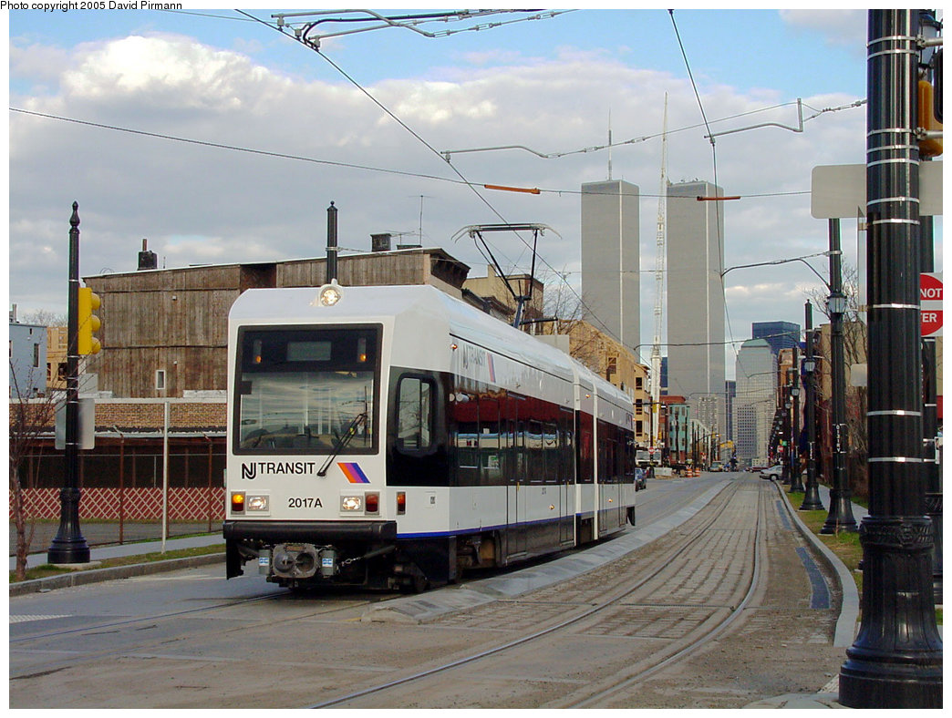 (232k, 1044x788)<br><b>Country:</b> United States<br><b>City:</b> Jersey City, NJ<br><b>System:</b> Hudson Bergen Light Rail<br><b>Location:</b> Van Vorst Street <br><b>Car:</b> NJT-HBLR LRV (Kinki-Sharyo, 1998-99)  2017 <br><b>Photo by:</b> David Pirmann<br><b>Date:</b> 3/26/2000<br><b>Viewed (this week/total):</b> 2 / 6975