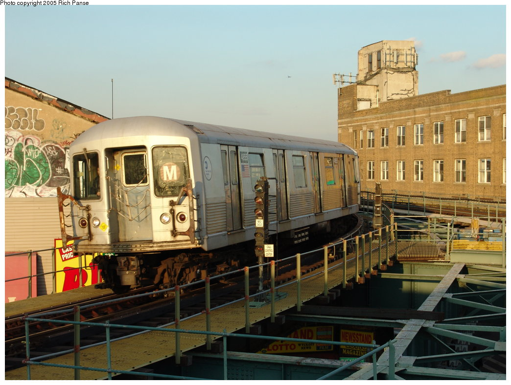 (197k, 1044x788)<br><b>Country:</b> United States<br><b>City:</b> New York<br><b>System:</b> New York City Transit<br><b>Line:</b> BMT Myrtle Avenue Line<br><b>Location:</b> Wyckoff Avenue <br><b>Car:</b> R-42 (St. Louis, 1969-1970)  4855 <br><b>Photo by:</b> Richard Panse<br><b>Date:</b> 2/22/2005<br><b>Viewed (this week/total):</b> 4 / 3772