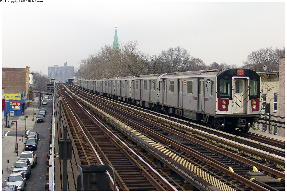 (245k, 1044x788)<br><b>Country:</b> United States<br><b>City:</b> New York<br><b>System:</b> New York City Transit<br><b>Line:</b> IRT Dyre Ave. Line<br><b>Location:</b> Baychester Avenue <br><b>Route:</b> Fan Trip<br><b>Car:</b> R-33 Main Line (St. Louis, 1962-63) 9068 <br><b>Photo by:</b> Richard Panse<br><b>Date:</b> 2/27/2005<br><b>Viewed (this week/total):</b> 3 / 2765