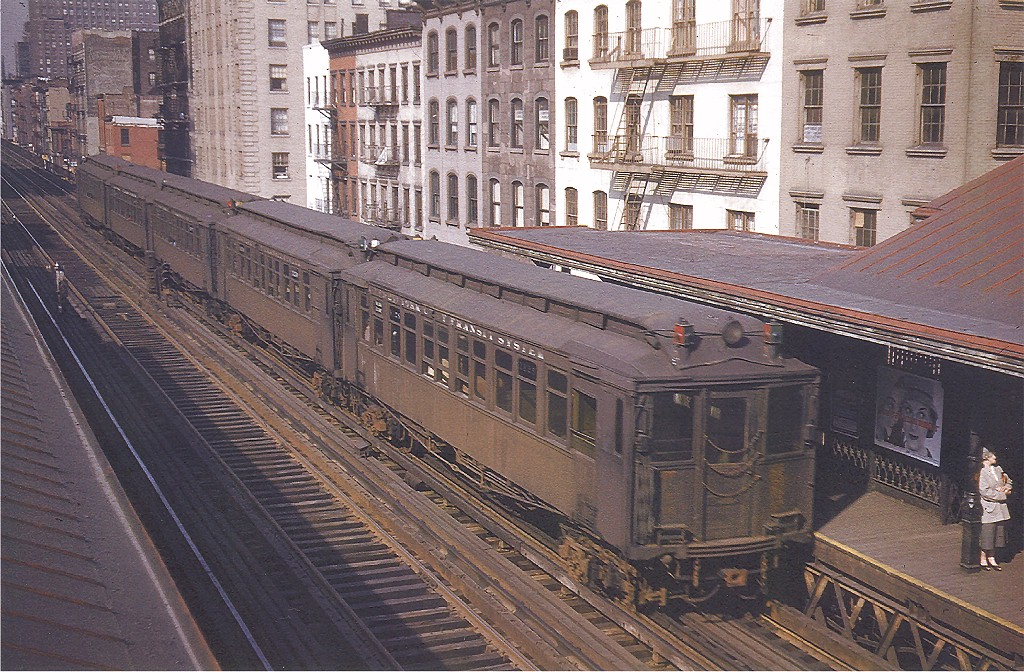 (284k, 1024x672)<br><b>Country:</b> United States<br><b>City:</b> New York<br><b>System:</b> New York City Transit<br><b>Line:</b> 3rd Avenue El<br><b>Location:</b> 34th Street <br><b>Car:</b> MUDC 1125 <br><b>Photo by:</b> Frank Goldsmith<br><b>Collection of:</b> Joe Testagrose<br><b>Date:</b> 5/6/1955<br><b>Viewed (this week/total):</b> 2 / 4857