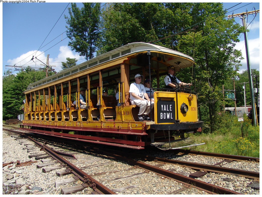 (350k, 1044x788)<br><b>Country:</b> United States<br><b>City:</b> Kennebunk, ME<br><b>System:</b> Seashore Trolley Museum <br><b>Car:</b> Connecticut Company 838 <br><b>Photo by:</b> Richard Panse<br><b>Date:</b> 9/4/2004<br><b>Viewed (this week/total):</b> 1 / 1998