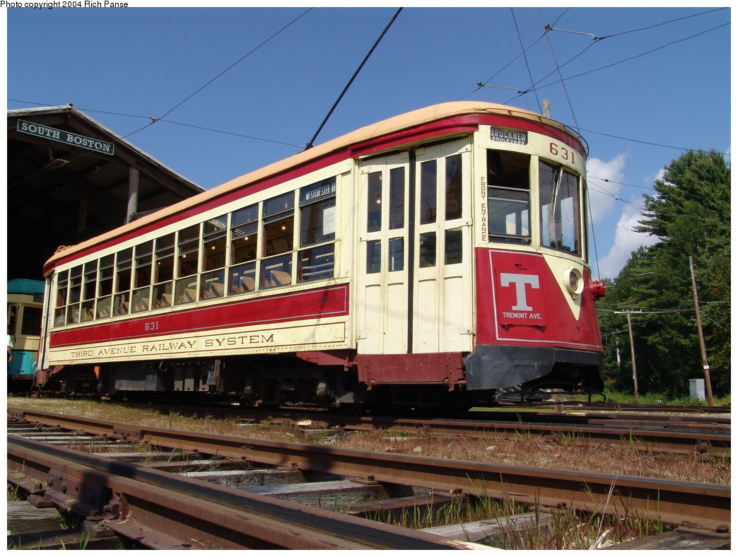 (222k, 1044x788)<br><b>Country:</b> United States<br><b>City:</b> Kennebunk, ME<br><b>System:</b> Seashore Trolley Museum <br><b>Car:</b> TARS 631 <br><b>Photo by:</b> Richard Panse<br><b>Date:</b> 9/4/2004<br><b>Notes:</b> Former Vienna 4216<br><b>Viewed (this week/total):</b> 1 / 1174