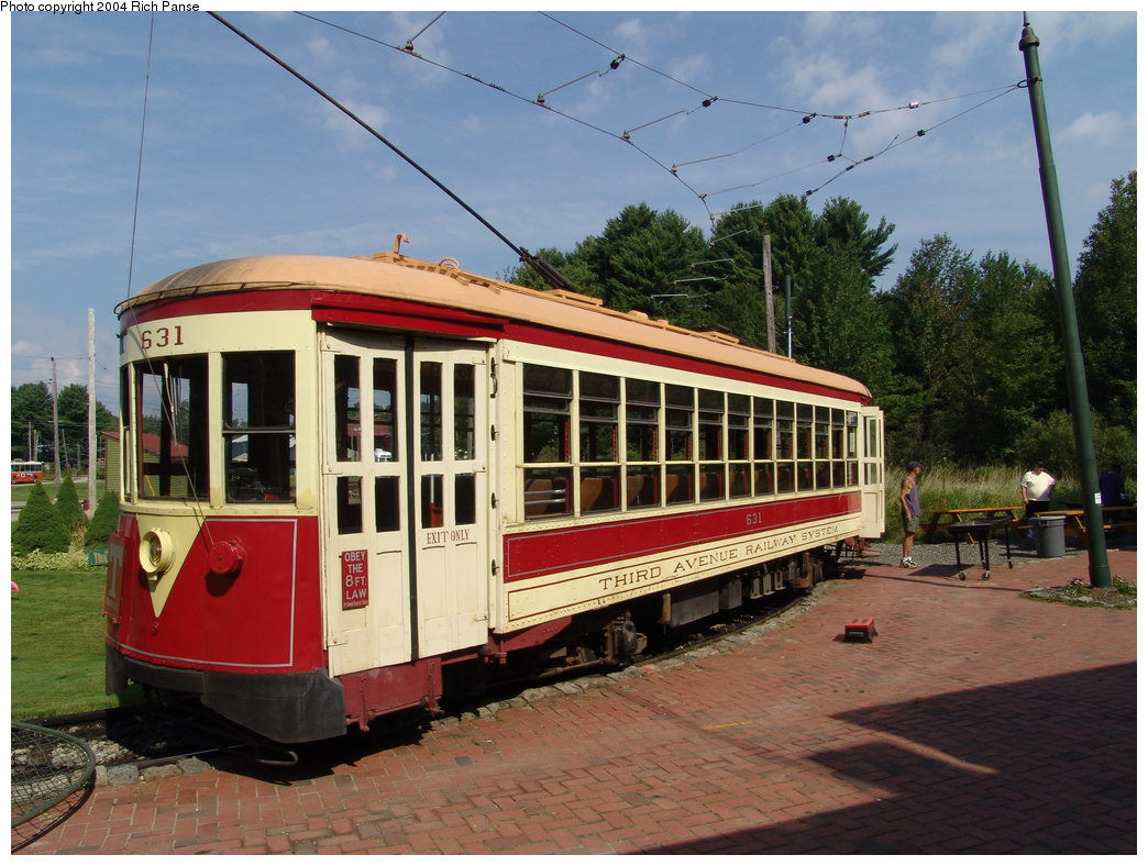(203k, 1044x788)<br><b>Country:</b> United States<br><b>City:</b> Kennebunk, ME<br><b>System:</b> Seashore Trolley Museum <br><b>Car:</b> TARS 631 <br><b>Photo by:</b> Richard Panse<br><b>Date:</b> 9/4/2004<br><b>Notes:</b> Former Vienna 4216<br><b>Viewed (this week/total):</b> 0 / 1302