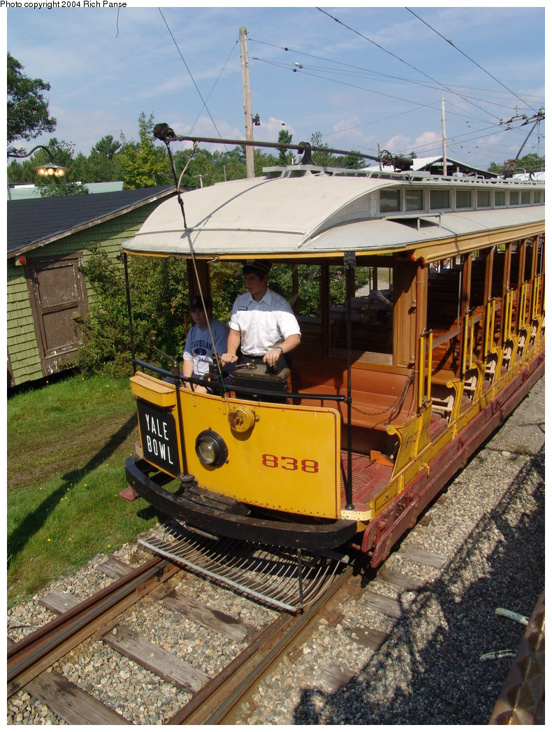 (267k, 790x1047)<br><b>Country:</b> United States<br><b>City:</b> Kennebunk, ME<br><b>System:</b> Seashore Trolley Museum <br><b>Car:</b> Connecticut Company 838 <br><b>Photo by:</b> Richard Panse<br><b>Date:</b> 9/4/2004<br><b>Viewed (this week/total):</b> 1 / 1131