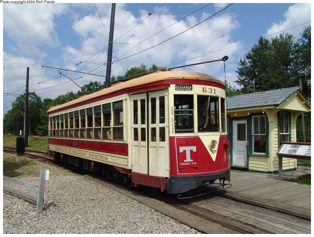 (247k, 1044x788)<br><b>Country:</b> United States<br><b>City:</b> Kennebunk, ME<br><b>System:</b> Seashore Trolley Museum <br><b>Car:</b> TARS 631 <br><b>Photo by:</b> Richard Panse<br><b>Date:</b> 9/4/2004<br><b>Notes:</b> Former Vienna 4216<br><b>Viewed (this week/total):</b> 0 / 1678