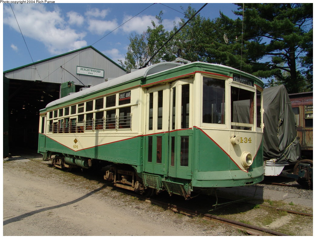 (231k, 1044x788)<br><b>Country:</b> United States<br><b>City:</b> Kennebunk, ME<br><b>System:</b> Seashore Trolley Museum <br><b>Car:</b> Dallas Railway & Terminal 434 <br><b>Photo by:</b> Richard Panse<br><b>Date:</b> 9/4/2004<br><b>Viewed (this week/total):</b> 1 / 1657