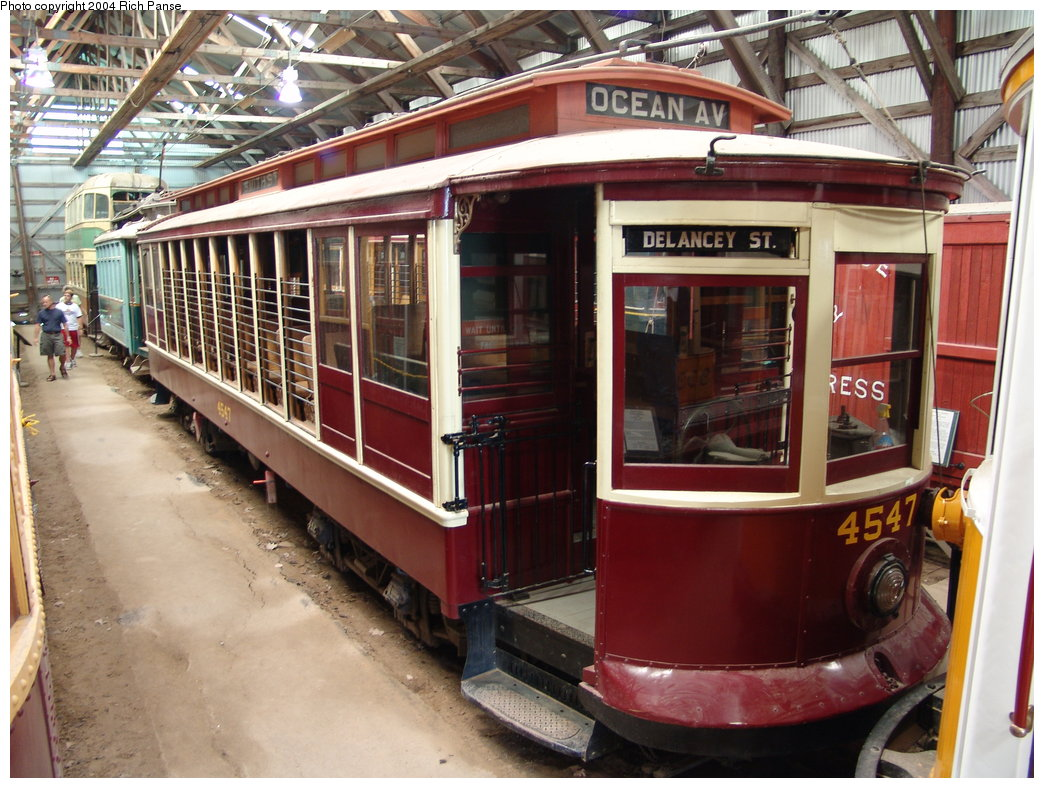 (220k, 1044x788)<br><b>Country:</b> United States<br><b>City:</b> Kennebunk, ME<br><b>System:</b> Seashore Trolley Museum <br><b>Car:</b> B&QT/BMT 4547 <br><b>Photo by:</b> Richard Panse<br><b>Date:</b> 9/4/2004<br><b>Viewed (this week/total):</b> 1 / 3470