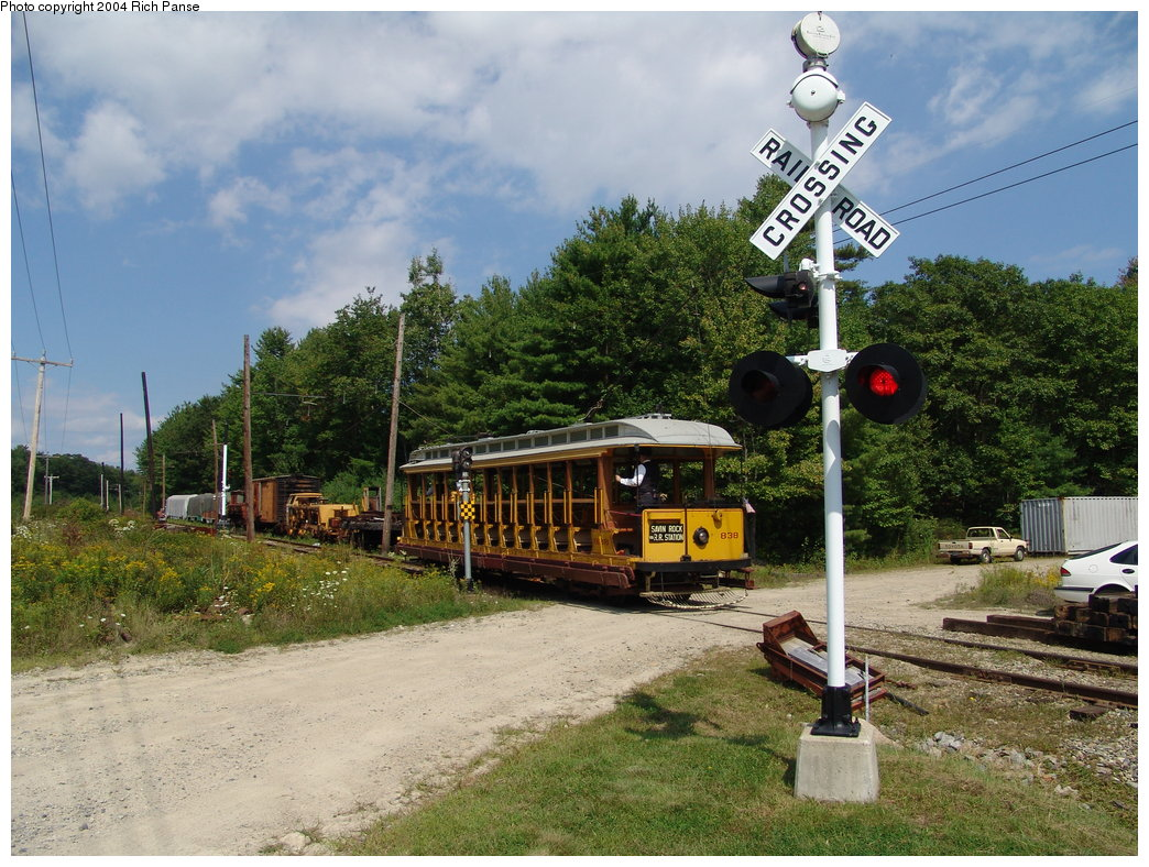 (242k, 1044x788)<br><b>Country:</b> United States<br><b>City:</b> Kennebunk, ME<br><b>System:</b> Seashore Trolley Museum <br><b>Car:</b> Connecticut Company 838 <br><b>Photo by:</b> Richard Panse<br><b>Date:</b> 9/4/2004<br><b>Viewed (this week/total):</b> 1 / 1088