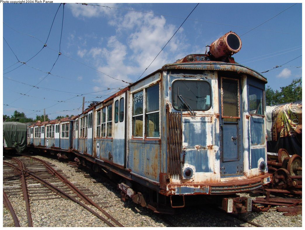 (231k, 1044x788)<br><b>Country:</b> United States<br><b>City:</b> Kennebunk, ME<br><b>System:</b> Seashore Trolley Museum <br><b>Car:</b> MBTA 0500 Series (Pullman, 1923)  0546 <br><b>Photo by:</b> Richard Panse<br><b>Date:</b> 9/4/2004<br><b>Viewed (this week/total):</b> 1 / 2181