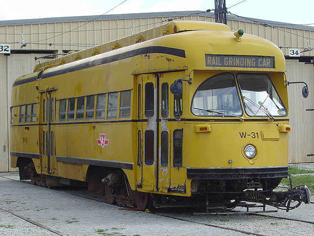 (127k, 640x480)<br><b>Country:</b> Canada<br><b>City:</b> Toronto<br><b>System:</b> Halton County Radial Railway <br><b>Car:</b> PCC (TTC Toronto) W-31 (ex-4668)<br><b>Photo by:</b> Michael Tricarico<br><b>Date:</b> 8/16/2004<br><b>Viewed (this week/total):</b> 1 / 3325